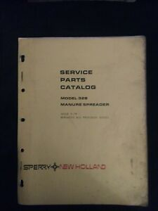 New Holland Model 328 Manure Spreader Service Parts Catalog Iss 5 74