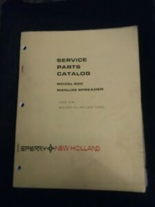 New Holland Model 800 Manure Spreader Service Parts Catalog Issue 4 81