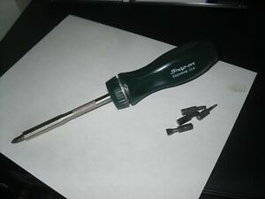 Snap On Ssdmr4b Green Hard Handle Ratcheting Screwdriver W Bits Usa