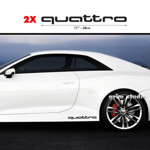 2x Audi Quattro Vinyl Decal Sticker Sport Racing Emblem Side Stickers