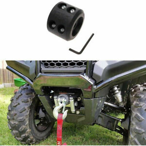 Synthetic Winch Line UTV ATV Winch Accessories Winch Cable Hook Stopper-Black