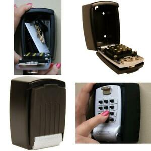 Wall Mount Lock Box Punch Button Key Less Storage Combination Security Padlock