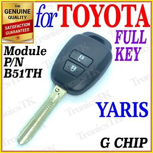 For Toyota Yaris Remote Key Two Buttons G Chip Year 02 2011 06 2014