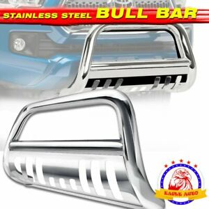 Fit 05 15 Toyota Tacoma Front Push Bumper Protector Truck Bull Bar Grill Guard