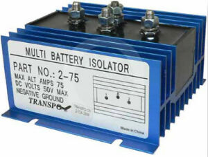 Dual Multi 2 Battery 1 Alternator 75 Amp Max Isolator Ems Marine Rv 2yr Wrnty
