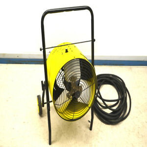 Dayton 3e217a Salamander 15000w Portable Electric 480v Forced Heater Fan
