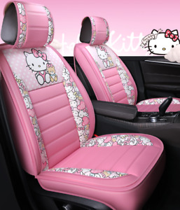 The New Hello Kitty Five Seater Car Seat Pu Cover Is Luxurious And Comfortable