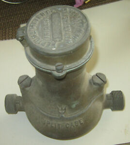Vintage Trident Split Case Water Meter By Neptune Meter Co New York