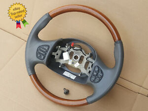 1997 2002 Lincoln Navigator Ford Excursion F250 Steering Wheel Gray Leather