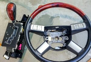 05 07 Chrysler 300 Dodge Magnum Charger Wood Steering Wheel W Shifter Assembly