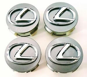 2006 2019 Lexus Silver Center Caps 62mm Hub Caps 2 5