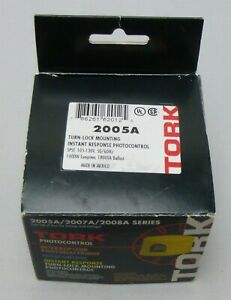 Tork Photocontrol 2005a Series Turn lock Spst 105 To 130vac New