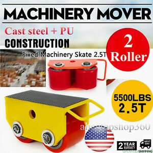 Heavy Duty Machine Dolly Skate Machinery Roller Mover Cargo Trolley 2 5t 5500lbs
