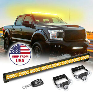35 5 Traffic Advisor Emergency Warning Strobe Light Bar Wireless Remote Amber