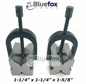 Precision Engineers Vee Blocks Clamp Set V Block Matched Pair 1 5 8 X 1 1 4