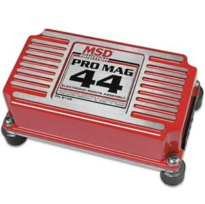 Msd 8145 Pro Mag Electronic Points Box 44 Amp Red New