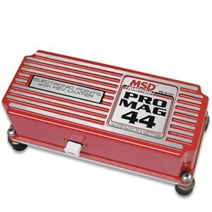 Msd 8147 Pro Mag Electronic Points Box 44 Amp rev Limiter red New