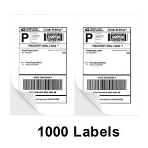 1000 Address Shipping Labels Half Sheet 8 5x5 5 Self Adhesive For Laser Inkjet