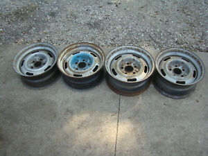4 Oem Gm Chevy Ii Rally Wheel 15x7 Fw 69 70 71 72 73 74 75 76 77 Camaro Corvette