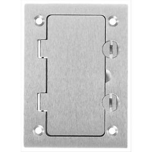 Hubbell Wiring Systems Sa3826 Aluminum Floor Box Gfci Flip Lid Opening Cover