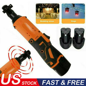 Electric Cordless Right Ratchet 3 8 12v 65nm Angle Wrench Tool 2 Battery Usa