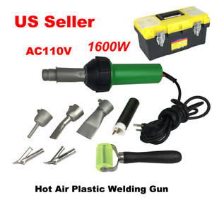 1600w Hot Air Plastic Welding Gun 110v Pistol Welder Heat Gun Torch Kit