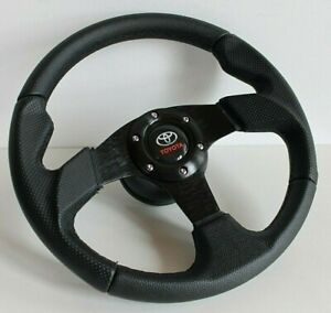 Steering Wheel Fits Toyota Celica Supra Mr2 Corolla Hiace Hi Lux Leather Sport