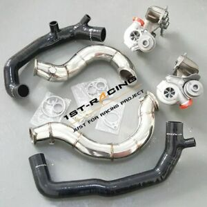 16t Twin Turbos 2 Turbo Inlets 3 Exhaust Downpipes For Bmw 135i 335i 3 0l