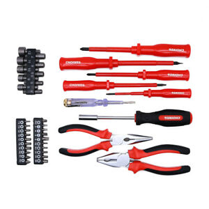 39pcs Electrician s Insulated Magnetic Electrical Hand Screwdriver Tool Set New