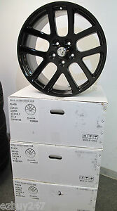 22 Dodge Ram 1500 Srt10 Style Set Of Four New Gloss Black Wheels Rims 2223
