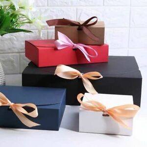 Gift Bag Wedding Kraft Paper Favor Boxes Birthday Present Clothes Packaging Box