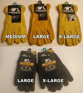 Wells Lamont All Season Cowhide Leather Work Gloves m l xl Ships Fast Bin