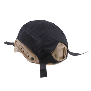 Tactical Hunting FAST Camo Helmet Cover Outdoor Equipment Black $9.46