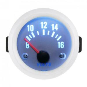 52mm Universal 2 Inch 12v 8v 16v Volt Voltage Meter Voltmeter Gauge Boat Car Us