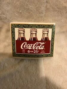 Iced Cold Coca-Cola Vintage 6 For 25 Theme Ceramic Four Count Toothbrush Holder