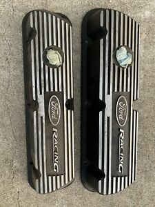 Ford Racing M 6582 A301r Engine Valve Cover Set Ford Racing Logo 289 302 351w