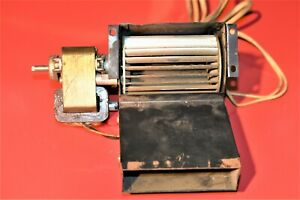 Vintage Miniature Squirrel Cage Fan Blower With 120 Volt Motor 553922a 3 2e