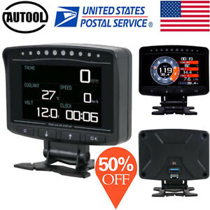 Autool Obd2 Ii Speedometer Car Hud Head Up Display Smart Meter Engine Monitor