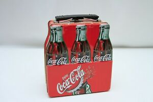 Coca-cola 6-pack lunchbox tin small lunch box Coke coke cans
