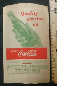 Drink Coca-Cola 1940s Dry Server Quality  Coke Bottle Protector Chicago IL