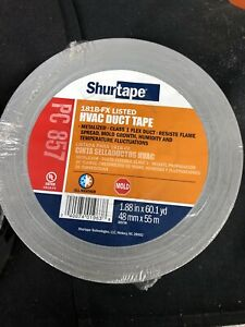 2 Rolls Large Duct Tape 55m L 14 Mil silver Pc 857