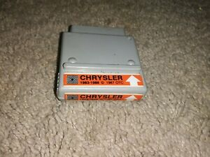 Monitor 2000 Software Chrysler Cartridge For 83 88 Preowned Good Condition Otc