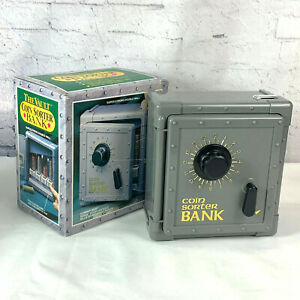 Vintage The Vault Coin Sorter Bank With Combination Lock For Kids New In Box