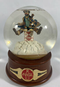 Rare Coca Cola Emmett Kelly Musical Water Globe Clown