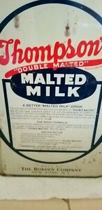 Antique Vintage Thomsons malted milk container