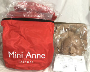 Laerdal Mini Anne Cpr Mannequin Lot Of 8 Plus Faces And Lungs