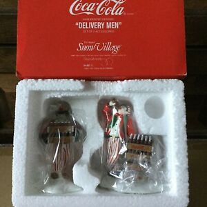Dept 56 Snow Village® COCA COLA® DELIVERY MEN SET OF 2 - BRAND NEW IN PLASTIC