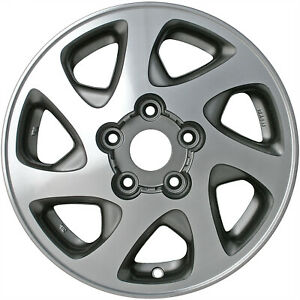 69348 Refinished Toyota Camry 1997 2001 15 Inch Wheel Charcoal Uses Mag Lugs