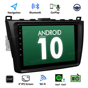 Us 9 Android 10 For Mazda 6 09 12 Car Video Stereo Gps Sat Navi Radio Head Unit