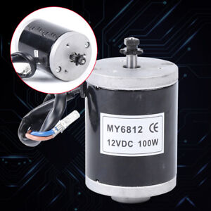 Electric Motor Brushed High Speed 12v 24v 100w 150w For Electric Bike Scooter